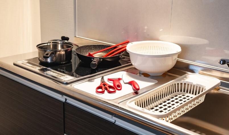 TAKUTOSTAY堺筋本町「キッチン&調理器具」