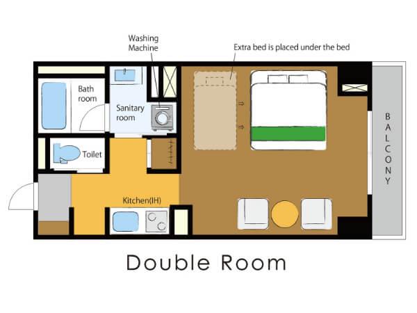ダブルルームの画像その2